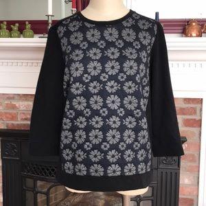 Ann Taylor Jacquard Style Daisy Sweatshirt Size L